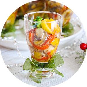贅沢ランチに、彩り野菜と『カブ』のマリネでも