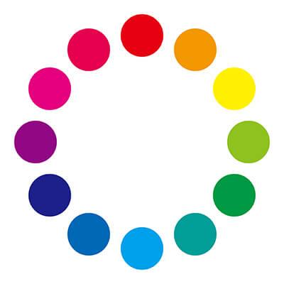【色相環】黄色とネイビーが対極にある