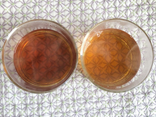 甜茶 vs ブレンドティー
