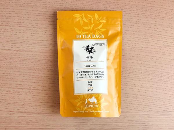 """「甜茶」(LUPICIA) → どこか紅茶っぽい風味があり、""""甜茶らしさのない甜茶"""""""