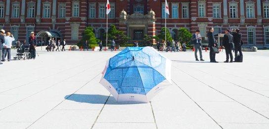 傘のシェアリング 中の人を取材してきた