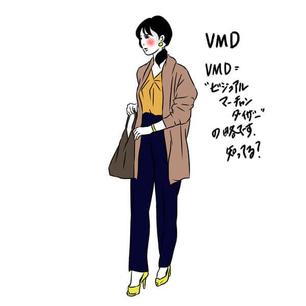 VMD:ビジュアルマーチャンダイザーの略です。知ってる?