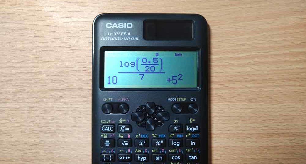 関数電卓「fx-375ESA-N」を使ったら、仕事と世界の見方が変わった