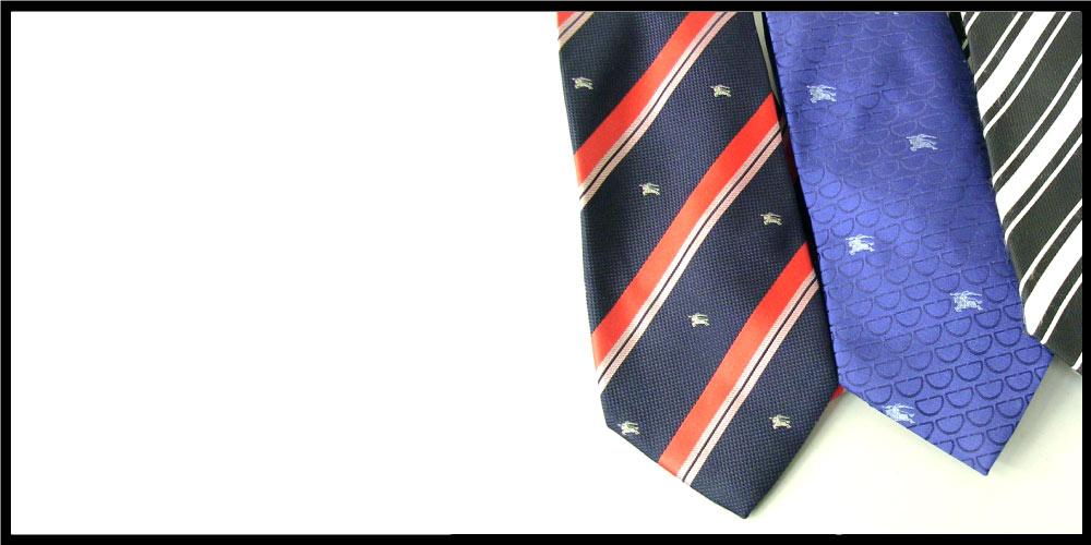 バーバリーチェックのマフラーが印象的な、BURBERRY(バーバリー)。同じ柄のネクタイも人気で、特に40代以上の方から多く愛用されています