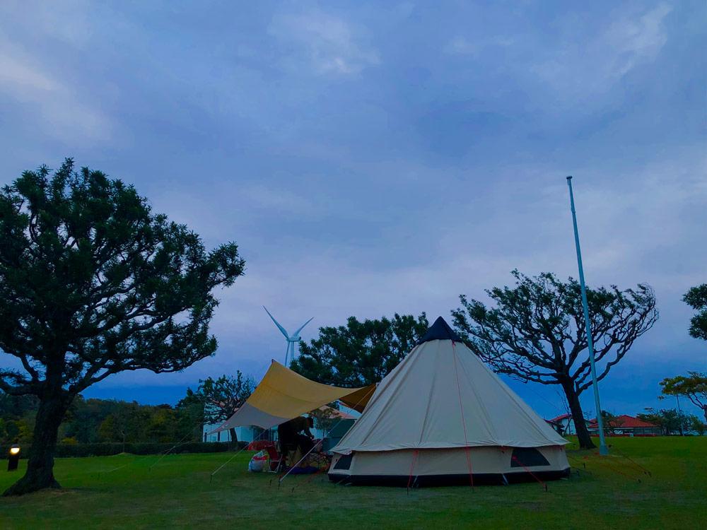静岡県にある竜洋海洋公園オートキャンプ場に行った時の写真