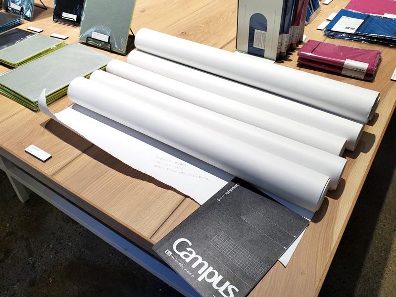 Campusノートの原料となるロール紙